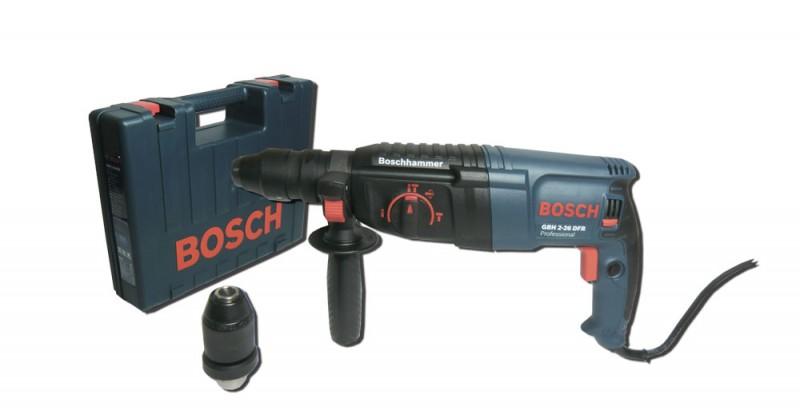bosch gbh 2 26 dfr bohrmaschine inkl wechselfutter werkzeuge bohren. Black Bedroom Furniture Sets. Home Design Ideas