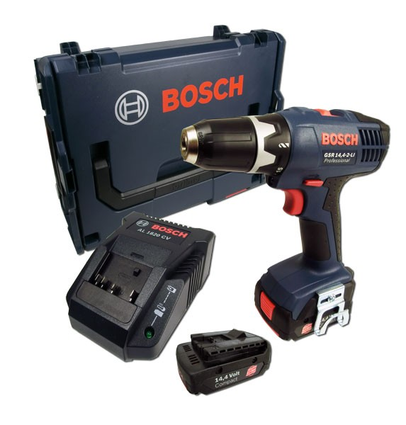 bosch gsr 14 4 2 li in l boxx 2 x akku 1 5ah werkzeuge akkuschrauber 14 4 volt. Black Bedroom Furniture Sets. Home Design Ideas