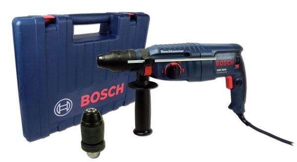 bosch gbh 2600 bohrhammer inkl schnellspannbohrfutter werkzeuge bohren. Black Bedroom Furniture Sets. Home Design Ideas