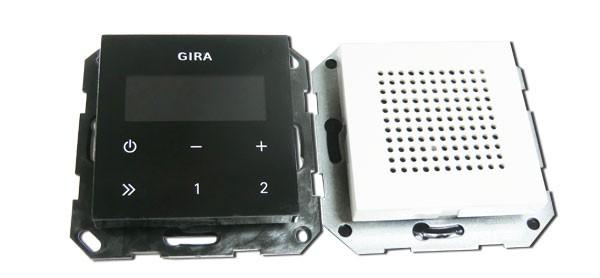 gira 228003 unterputz radio schwarz heimwerker haus garten unterhaltung. Black Bedroom Furniture Sets. Home Design Ideas