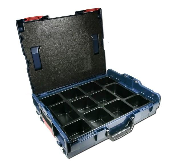 bosch l boxx gr e 1 sortimo 102 mit kleinteileinsatz 12 mulden werkzeuge zubeh r werkzeug. Black Bedroom Furniture Sets. Home Design Ideas