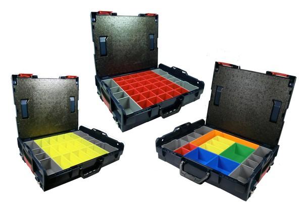 bosch sortimo l boxx 102 inkl insetboxenset a 3 b 3 h 3 3er set werkzeuge zubeh r. Black Bedroom Furniture Sets. Home Design Ideas